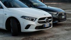 Audi A3 vs Mercedes Classe A plug-in hybrid: frontali a confronto. Quale vi piace di più?