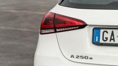 Audi A3 vs Mercedes Classe A plug-in hybrid: i fari posteriori a LED della Classe A PHEV