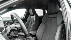 Audi A3 vs Mercedes Classe A plug-in hybrid: i sedili sportivi anteriori dell'Audi