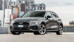Audi A3 vs Mercedes Classe A plug-in hybrid: il 3/4 anteriore dell'Audi