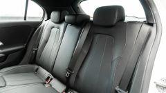 Audi A3 vs Mercedes Classe A plug-in hybrid: il divanetto posteriore della Classe A