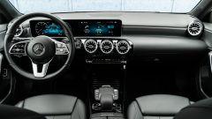 Audi A3 vs Mercedes Classe A plug-in hybrid: l'abitacolo della Classe A PHEV