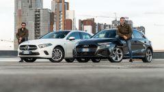 Audi A3 vs Mercedes Classe A plug-in hybrid: le due protagoniste del test con i collaudatori. Chi è più bello?
