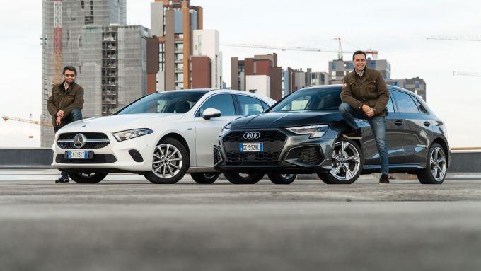Audi A3 vs Mercedes Classe A plug-in hybrid: le protagoniste del nostro test