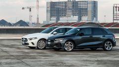 Audi A3 vs Mercedes Classe A plug-in hybrid: prima le foto statiche, poi il confronto su strada