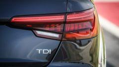 Audi A4 2.0 TDI: dettaglio del fanale posteriore