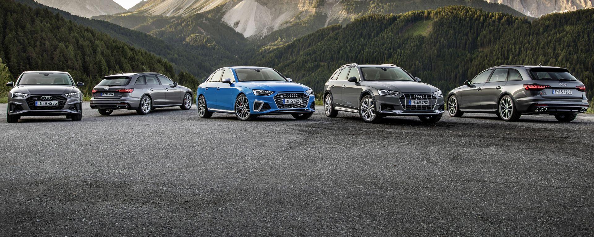 Audi A4 2021: la gamma completa