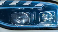 Audi A4 Avant 2019, dettaglio del faro con tecnologia Led Matrix