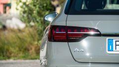 Audi A4 Avant 2019, i fanali posteriori
