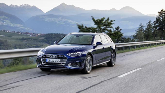 Audi A4 Avant 2021: vista frontale