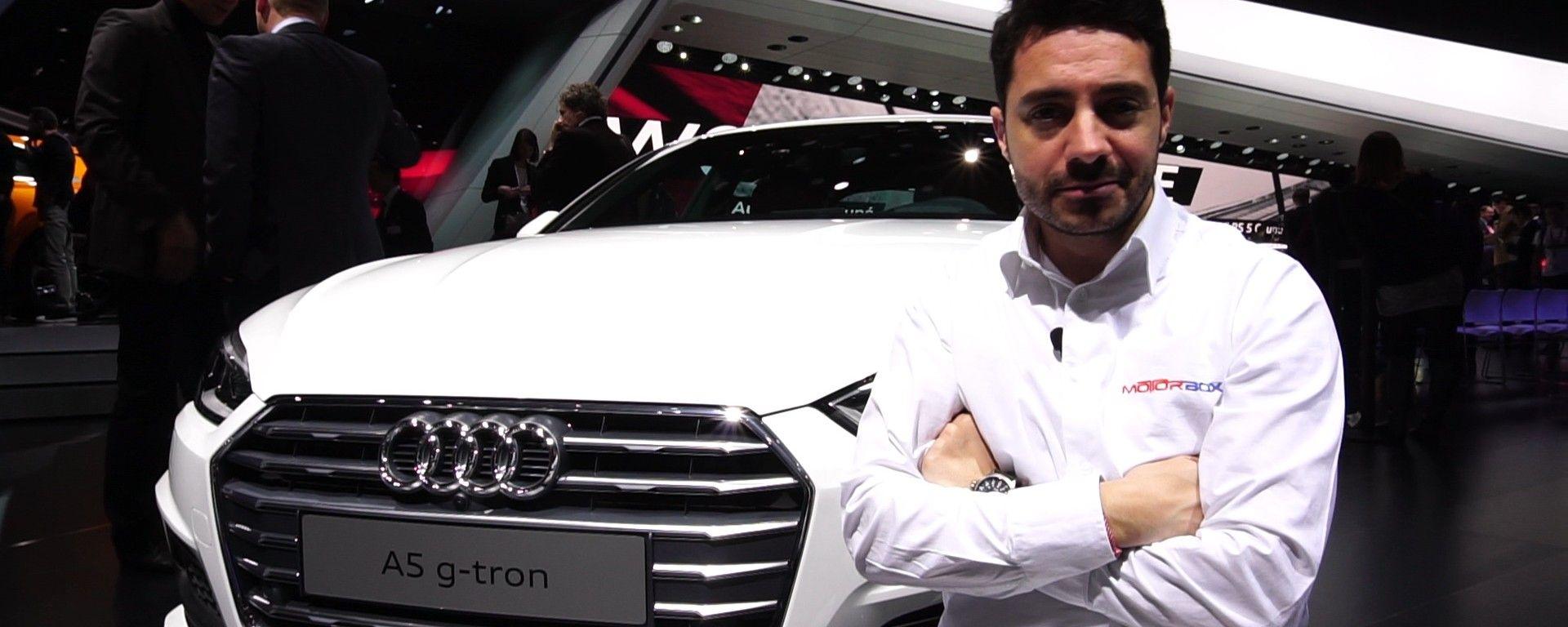Audi A5 g-tron al Salone di Ginevra 2017