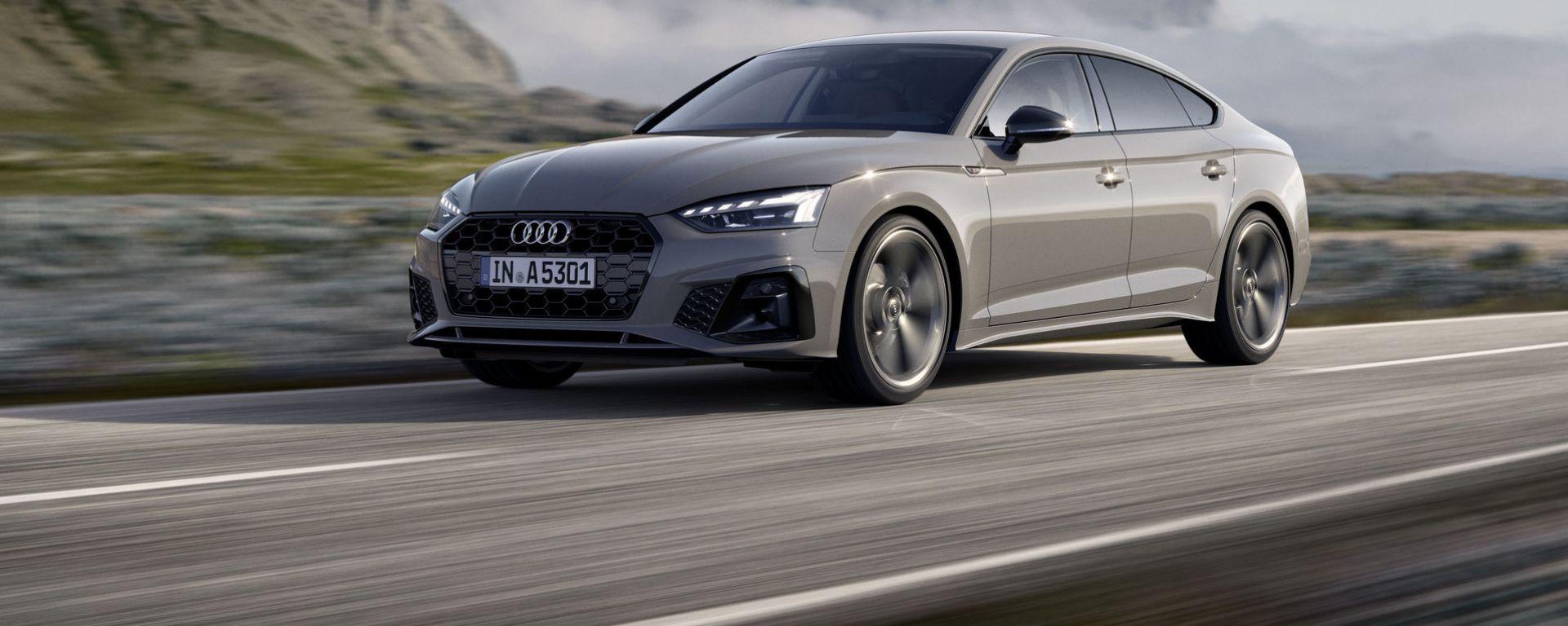 Audi A5 Sportback 2020: vista 3/4 anteriore