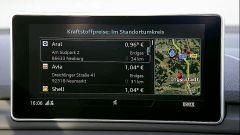Audi A5 Sportback g-tron 2.0 TFSI s tronic: dettaglio del display a centro plancia