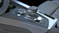 Audi A5 Sportback g-tron 2.0 TFSI s tronic: i comandi attorno alla leva del cambio S tronic
