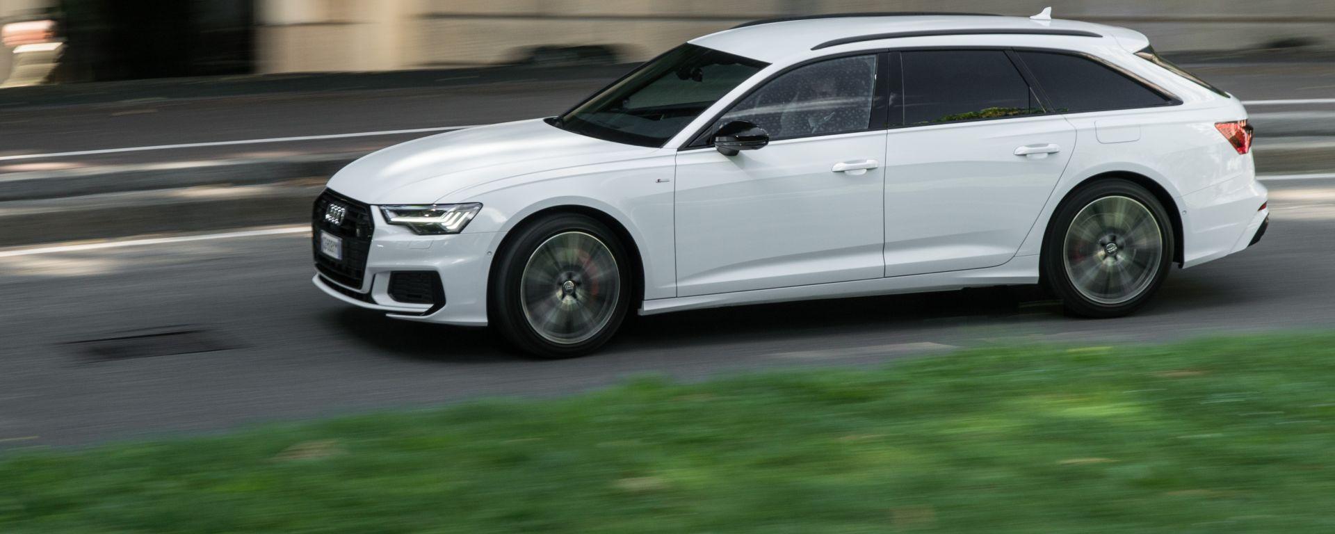 Audi A6 Avant 55 tfsi e quattro: la prova video della wagon tedesca alla spina
