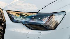 Audi A6 Avant 55 tfsi e quattro: un dettaglio dei fari full LED