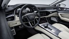 Audi A7 Sportback 2018 silver: dettaglio del volante