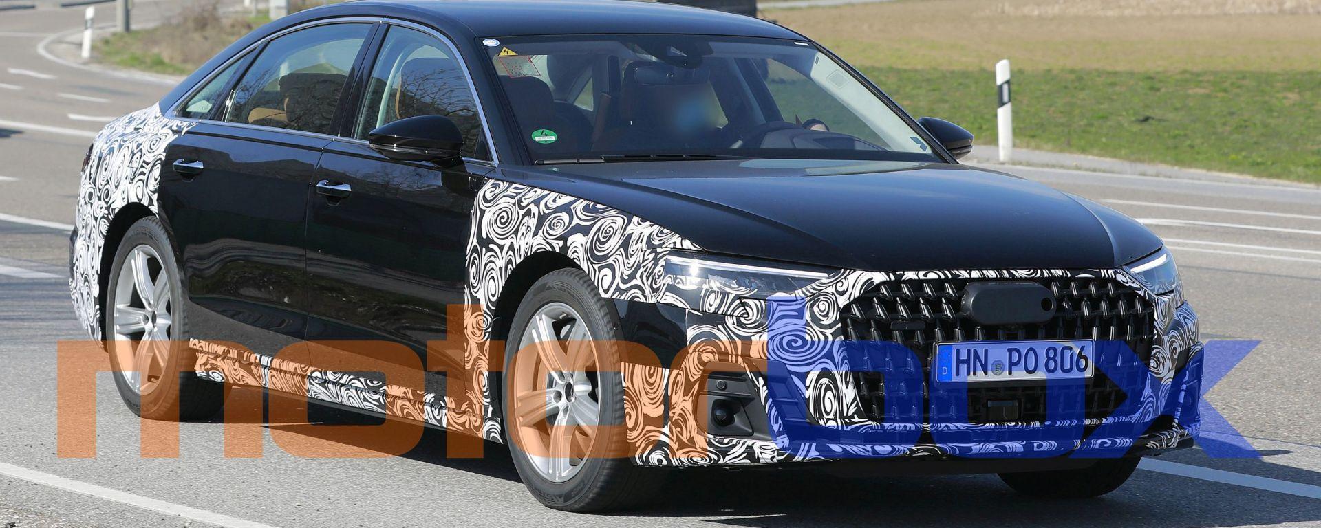 Audi A8 2021: foto spia del restyling