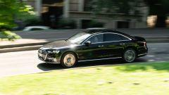 Audi A8 60 TFSI e plug-in: trazione integrale quattro, ruote posteriori sterzanti