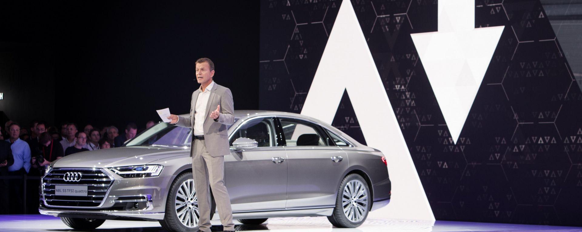 Audi A8, Salone dell'auto di Francoforte 2017