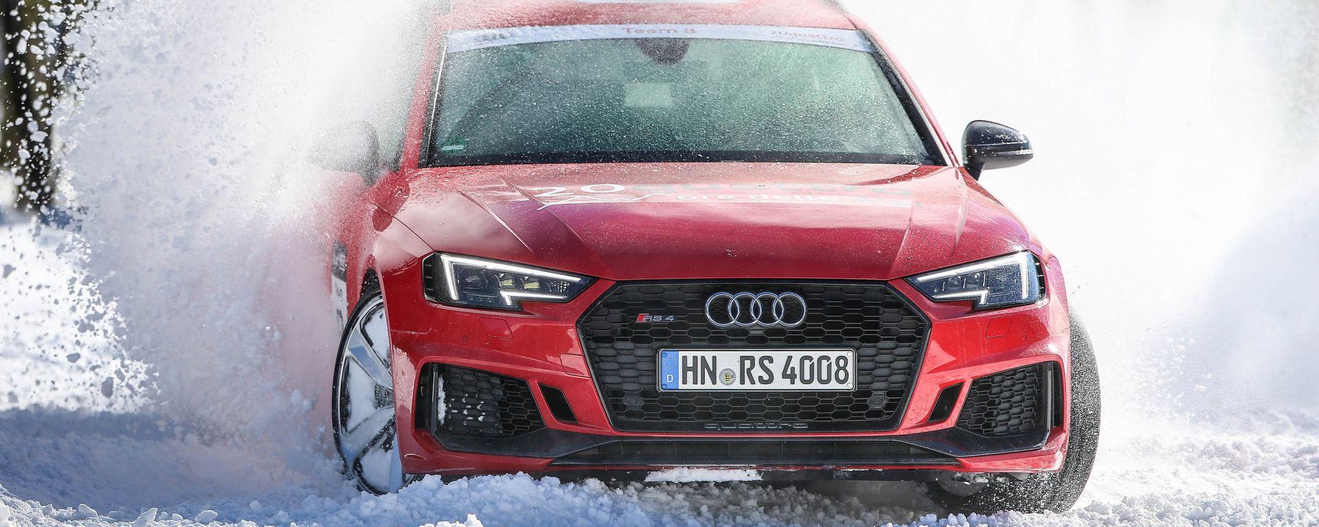 Con l'Audi RS 4 alla 20quattro ore delle Alpi 2018