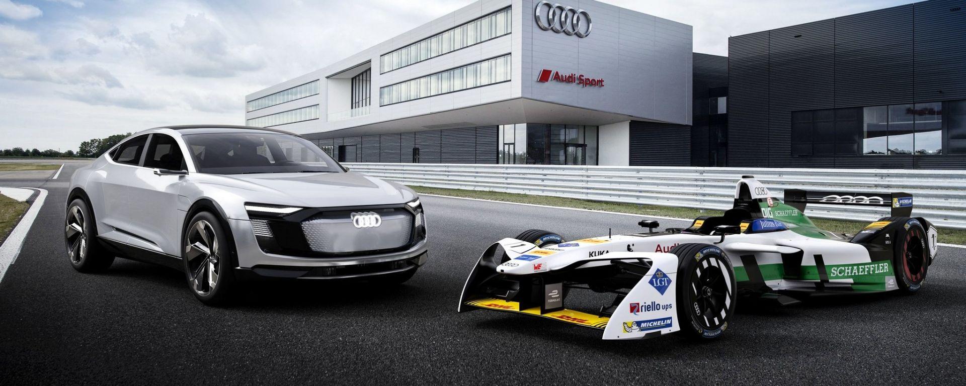 Audi ABT Formula E e la Audi e-tron