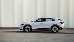Audi e-tron 50 quattro, vista laterale