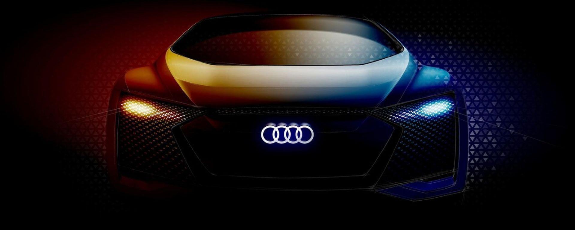 Audi E-Tron Concept: il teaser dell'elettrica a guida autonoma