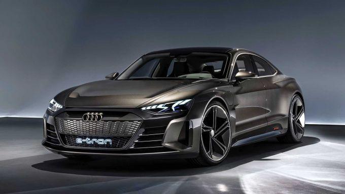 Audi e-tron GT: dettaglio frontale