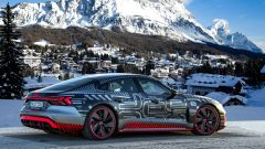 Audi e-tron GT: l'auto sarà esposta a Cortina