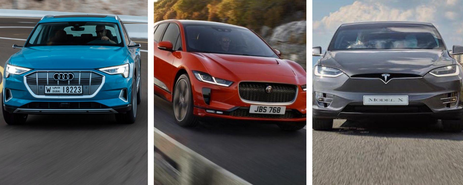 Audi e-tron - Jaguar i-Pace - Tesla Model X