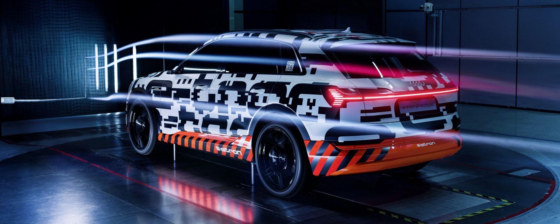 Audi e-tron Prototipo: aerodinamica al top per il Suv elettrico