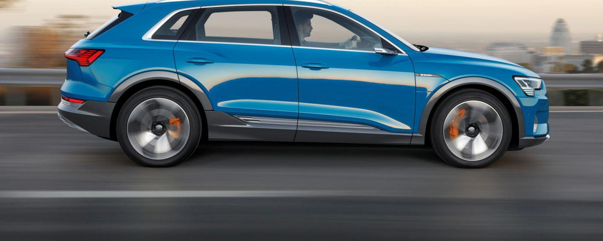Audi e-tron quattro, primi richiami causa rischio incendio
