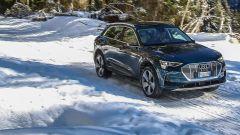 Audi e-tron, guida su neve e ghiaccio