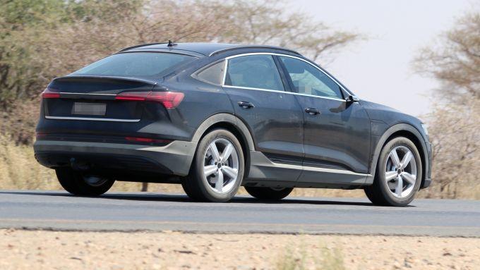 Audi e-Tron Sportback 2020: vista 3/4 posteriore