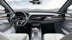 Audi e-tron Sportback concept, gli interni hanno uno schermo digitale per i comandi secondari