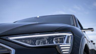 Audi e-tron Sportback: i fari anteriori full LED
