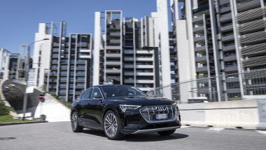 Audi e-tron Sportback: in città è un po' meno agile a causa delle dimensioni