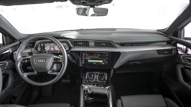 Audi e-tron Sportback: la plancia con i 5 display ad alata risoluzione