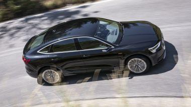 Audi e-tron Sportback: su strada grande silenzio e comfort