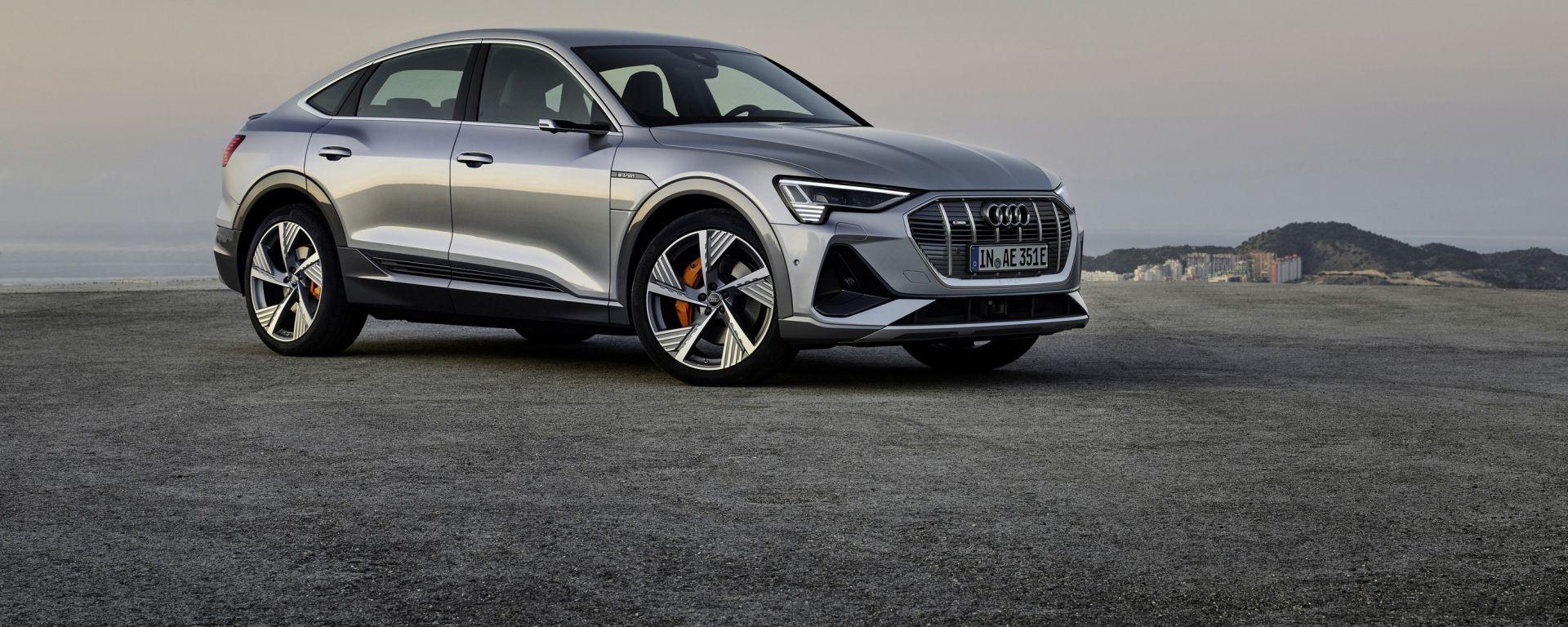 Audi E-tron Sportback 2020 dimensioni interni uscita prezzo - MotorBox
