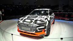 Audi ha svelato la E-Tron Quattro al Salone di Ginevra, anche se con una livrea camouflage