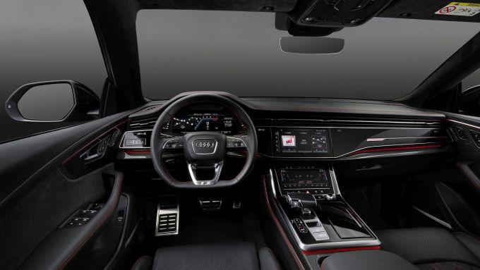 Audi MY 2022: Q7, visuale degli interni
