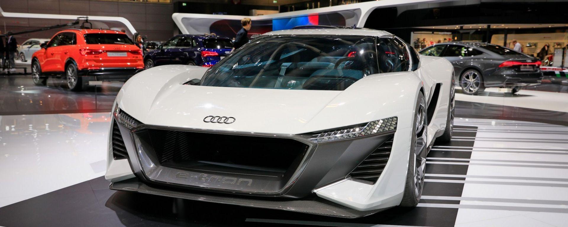 Audi PB18 e-tron concept, supercar elettrica trimotore