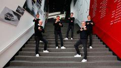 Audi presenta il suo Team Dakar 2022: Edouard Boulanger, Stéphane Peterhansel, Lucas Cruz, Emil Bergkvist, Carlos Sainz, Mattias