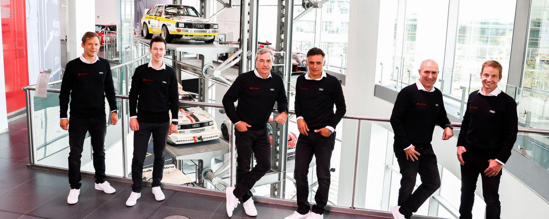 Audi presenta il suo Team Dakar 2022: Mattias Ekström, Emil Bergkvist, Carlos Sainz, Lucas Cruz, Stéphane Peterhansel, Edouard B