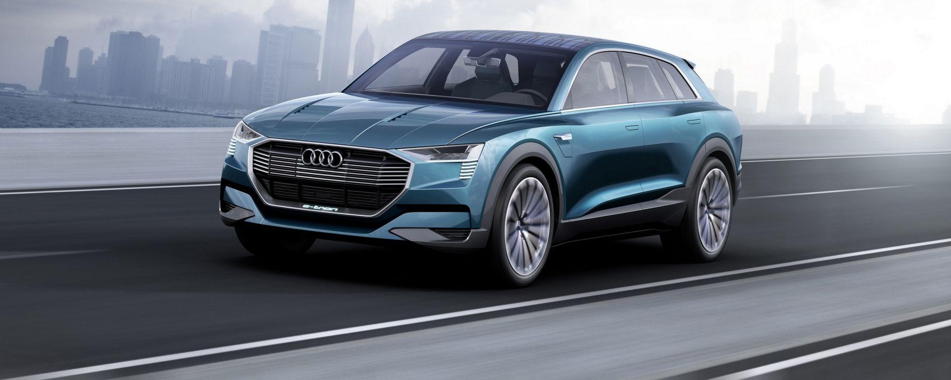 Audi presenterà nel 2018 la propria vettura 100% elettrica e potrebbe assomigliare alla e-tron quattro