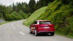 Audi Q2: il pezzo forte è il 3/4 posteriore con coda tridimensionale e luci squadrate
