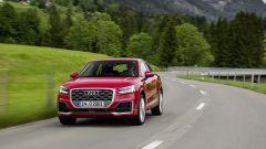 Audi Q2: la grande bocca-calandra è sempre più squadrata e sempre più in alto