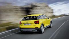 Audi Q2: la versione Design, più votata all'offroad, ha protezioni sottoscocca anteriori e posteriori
